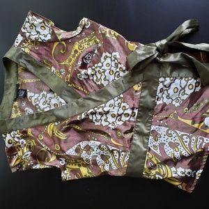BCBG silk wrap shirt